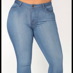 Fashion Nova Light Blue Jean 1X
